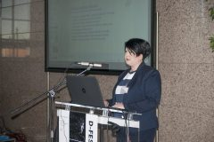 Jelena Miškić (Vukovar City Library) at the Ninth Festival of Croatian Digitisation Projects. National and University Library in Zagreb, 9 & 10 May 2019.