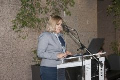 Director General of the National and University Library in Zagreb Tatijana Petrić at the opening of the Ninth Festival of Croatian Digitisation Projects. National and University Library in Zagreb, 9 & 10 May 2019.