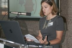 Iva Perinić (National and University Library in Zagreb) at the Ninth Festival of Croatian Digitisation Projects. National and University Library in Zagreb, 9 & 10 May 2019.