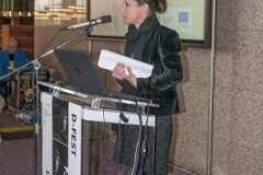Jelena Bilić (Croatian Ministry of Culture, Directorate for Archives, Libraries and Museums, Cultural Heritage Digitisation Office) at the Ninth Festival of Croatian Digitisation Projects. National and University Library in Zagreb, 9 & 10 May 2019.