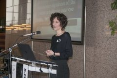 Renata Petrušić (National and University Library in Zagreb) at the Ninth Festival of Croatian Digitisation Projects. National and University Library in Zagreb, 9 & 10 May 2019.