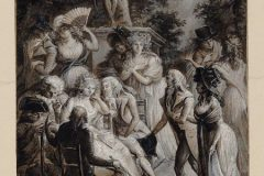 "Gravura ""Konferencije Madame de Staël"". Autor Philibert-Louis Debucourt. Izvor Nacionalna knjižnica Francuske. Trajni URL: https://www.europeana.eu/portal/en/exhibitions/pioneers/credits."