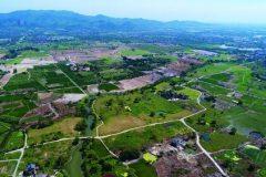 Pogled iz zraka na lokalitet Liangzhu, Kina. © Hangzhou Liangzhu Archaeological - Site Administrative District Management Committee. Trajni URL: whc.unesco.org/en/documents/166301.