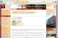 Mrežne stranice Digitalnoga arhiva hrvatskih mrežnih publikacija (DAMP, 2005. – 2010.) iz 2006. godine.