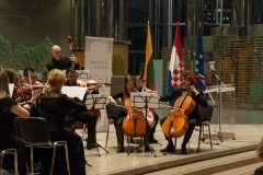 A musical performance by the members of the String Orchestra of the Juozas Gruodis Conservatory in Kaunas at a special programme marking the centenary of the restoration of Lithuania's sovereignty hosted by NSK.