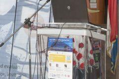 Dr Simona Šinko (Ljubljana City Library, Slovenia) at IFLA CPDWL preconference announcing IFLA WLIC 2019. National and University Library in Zagreb, 21 August 2019.