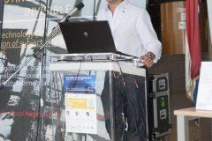 Keynote speaker Associate Professor Mario Hibert (University of Sarajevo, Bosnia and Herzegovina) at IFLA CPDWL preconference announcing IFLA WLIC 2019. National and University Library in Zagreb, 21 August 2019.