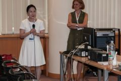 Helen M. Y. Chan (University of Hong Kong, Hong Kong) and session chair Prof Ana Barbarić (University of Zagreb) at IFLA CPDWL preconference announcing IFLA WLIC 2019. National and University Library in Zagreb, 21 August 2019.