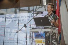 Dorja Mučnjak (University of Zagreb, Croatia) at IFLA CPDWL preconference announcing IFLA WLIC 2019. National and University Library in Zagreb, 21 August 2019.