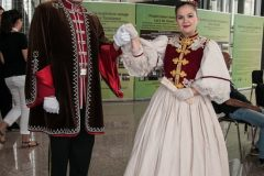 Actors costumed as distinguished figures who marked the history of Zagreb, the capital of Croatia, at a special programme accompanying IFLA CPDWL preconference announcing IFLA WLIC 2019. National and University Library in Zagreb, 21 August 2019.