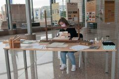 """""""At the heart of the love of books – NSK conservation experts in action"""", the programme of the Preservation and Storage Department of the National and University Library in Zagreb marking European Heritage Days 2021. National and University Library in Zagreb, 6 and 7 October 2021."""