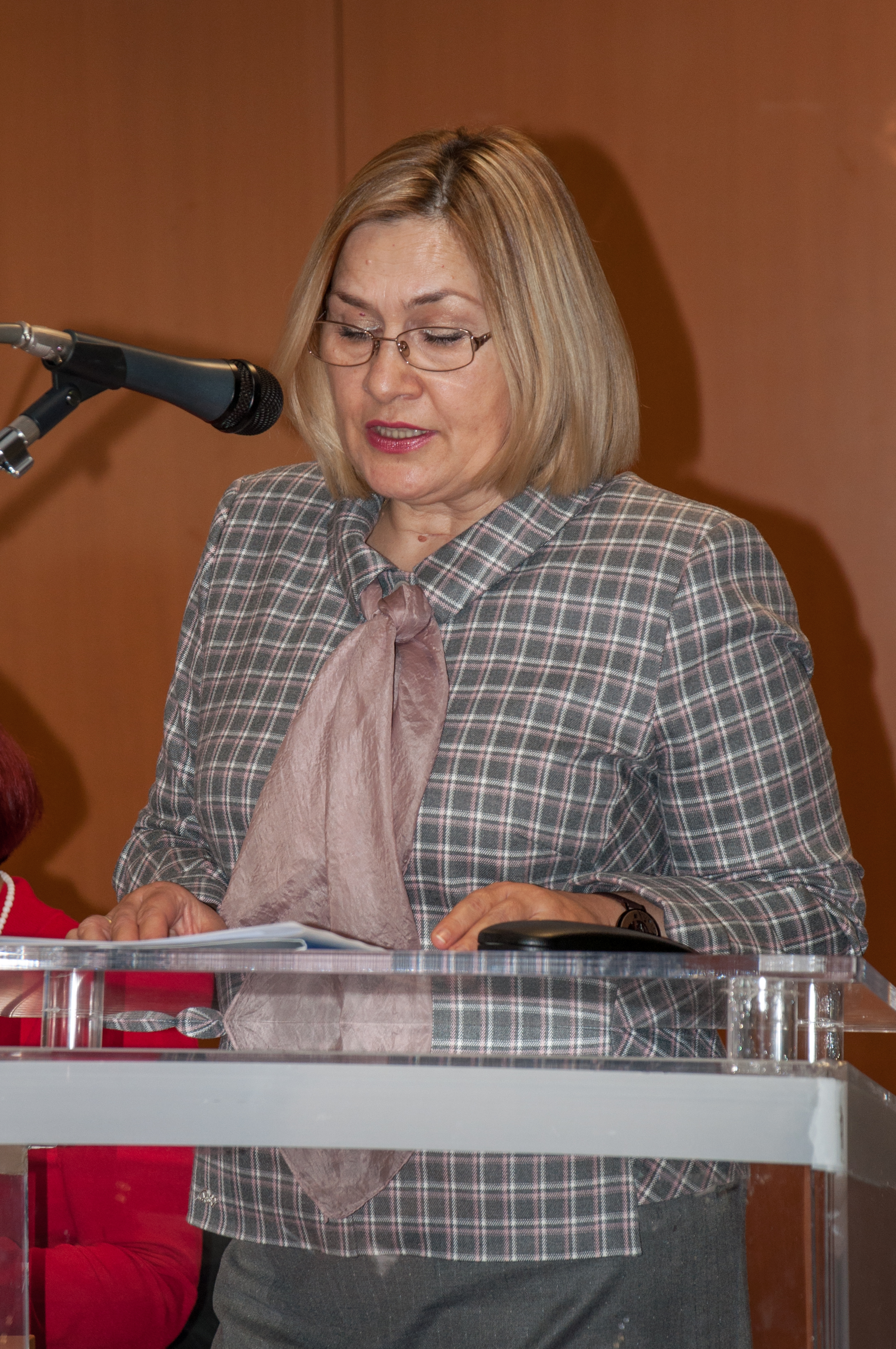 "Director General of the National and University Library in Zagreb Tatijana Petrić at the presentation of the ""Traditional children's stories for a common future"" (TRACE) project."