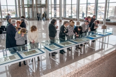 "Visitors at the presentation of ""Zbirka Novak – Mappae Croaticae"", the Library's monograph on The Novak Collection, one of Croatia's most valuable cartographic collections preserved as part of the NSK Map Collection."