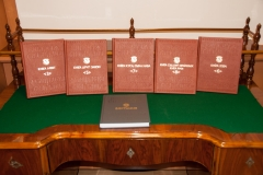 The facsimile editions of works by Francysk Skaryna, the first printer among East Slavs, presented as a gift by the Embassy of the Republic of Belarus to the National and University Library in Zagreb (NSK), as a way of marking the 500th anniversary of Belarusian and East Slavic book printing.