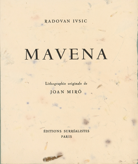 Mavena. Print portfolio by Radovan Ivšić and Joan Miró. NUL Print Collection.