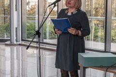 Glavna ravnateljica Nacionalne i sveučilišne knjižnice u Zagrebu dr. sc. Tatijana Petrić na obilježavanju Europskoga dana konzervacije-restauracije.
