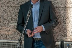 """Krešimir Jadro iz tvrtke Crescat održao je predavanje pod nazivom """"Zeleni, ekološki prihvatljivi materijali u zaštiti kulturne baštine""""."""