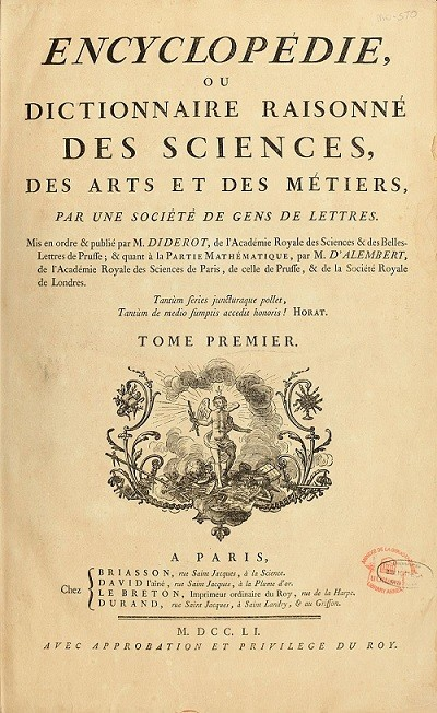 "Francuska ""Enciklopedija"", 1751.-1772. Izvor: http://tinyurl.com/gr8o9gh."