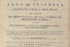 """""""Enciklopedia Britannica"""", naslovna strana prvoga izadnja. Izvor: http://tinyurl.com/hkd4v9n."""