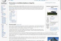 """""""Wikipedija"""", članak o Nacionalnoj i sveučilišnoj knjižnici u Zagrebu. Izvor: http://tinyurl.com/gugk6ja."""