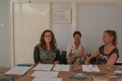 Djelatnice NSK Jasenka Zajec i Anita Marin na Danu prikupljanja podataka o migracijama u sklopu Europske godine kulturne baštine u Institutu za migracije i narodnosti u Zagrebu.
