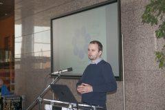 Marko Orešković (Nacionalna i sveučilišna knjižnica u Zagrebu) na Devetom festivalu hrvatskih digitalizacijskih projekata u Nacionalnoj i sveučilišnoj knjižnici u Zagrebu.