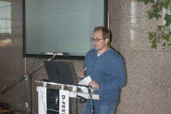 Dario Franić (Državni arhiv u Sisku) na Devetom festivalu hrvatskih digitalizacijskih projekata u Nacionalnoj i sveučilišnoj knjižnici u Zagrebu.