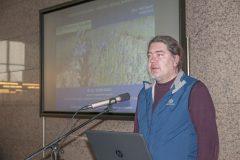 Darko Babić (Filozofski fakultet Sveučilišta u Zagrebu) na Devetom festivalu hrvatskih digitalizacijskih projekata u Nacionalnoj i sveučilišnoj knjižnici u Zagrebu.