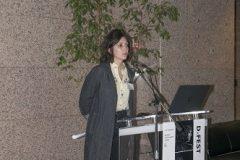 Barbara Lovrinić (Institut za razvoj i međunarodne odnose u Zagrebu) na Devetom festivalu hrvatskih digitalizacijskih projekata u Nacionalnoj i sveučilišnoj knjižnici u Zagrebu.
