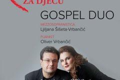 """Održan drugi humanitarni koncert NSK """"Srcem i glazbom za djecu"""", u izvedbi glazbenog dua """"Gospel Duo""""."""