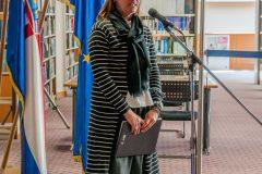Predstavnica Ministarstva kulture Ana Jelavić na otvorenju Europskoga dokumentacijskog centra NSK.