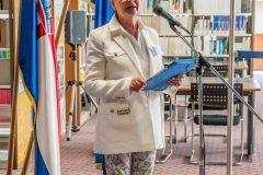 Voditeljica Europskoga dokumentacijskog centra NSK mr. sc. Blaženka Peradenić-Kotur na njegovu otvorenju.