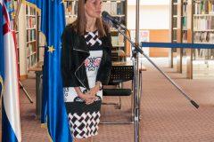 Predstavnica Europske komisije Lana Zeković na otvorenju Europskoga dokumentacijskog centra NSK.