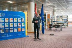Rektor Zagrebačkoga sveučilišta prof. dr. sc. Damir Boras na otvorenju Europskoga dokumentacijskog centra NSK.