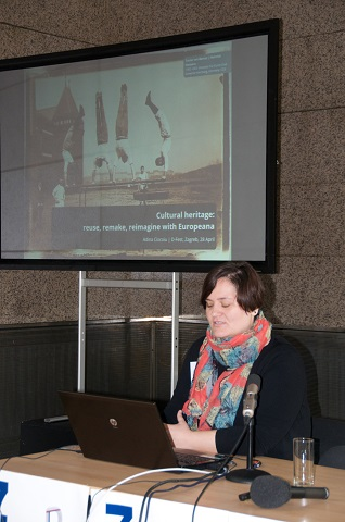 "Adina Ciocoiu (Europeana): ""Cultural heritage: reuse, remake, reimagine with Europeana."""