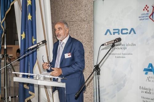 Predsjednik Udruge inovatora Hrvatske Ivan Bračić na svečanome otvorenju 17. međunarodne izložbe inovacija ARCA 2019.