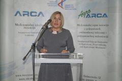 Vršiteljica dužnosti glavne ravnateljice Nacionalne i sveučilišne knjižnice u Zagrebu dr. sc. Tatijana Petrić na svečanome otvorenju 17. međunarodne izložbe inovacija ARCA 2019.
