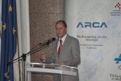 Prorektor za inovacije i transfer tehnologije Sveučilišta u Zagrebu prof. dr. sc. Miljenko Šimpraga na svečanome otvorenju 17. međunarodne izložbe inovacija ARCA 2019.