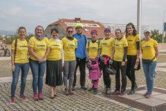 Sudionici održane biciklijade Europskoga dokumentacijskog centra NSK u povodu Europskoga tjedna sporta.