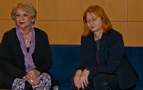 Muzikologinja, glazbena kritičarka i diplomatkinja dr. sc. Zdenka Weber i voditeljca tribine dr. sc. Željka Lovrenčić.