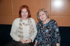 Voditeljca tribine dr. sc. Željka Lovrenčić i književnica i prevoditeljica Ljerka Car-Matutinović.