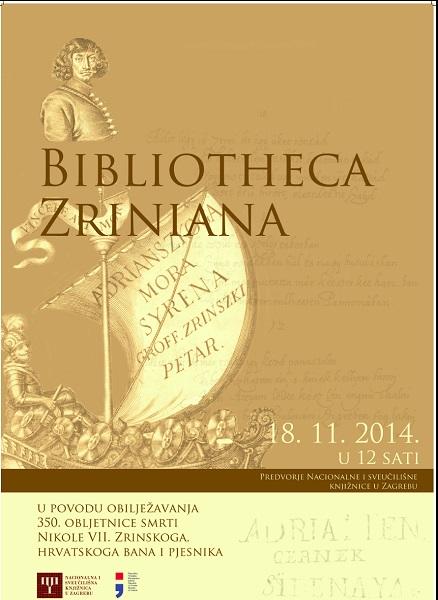 Plakat izložbe Bibliotheca Zriniana.