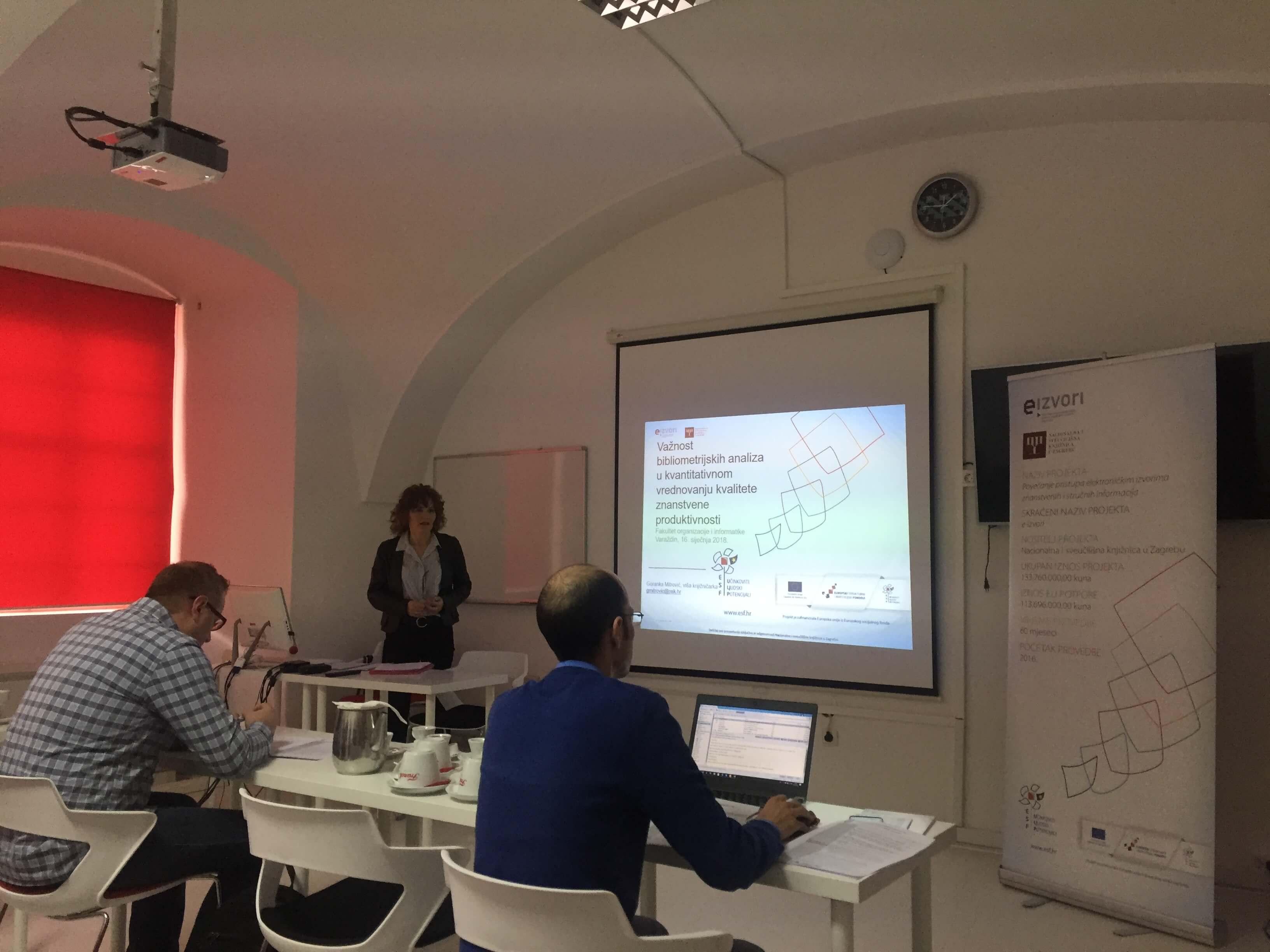 Održana radionica edukacije korisnika na Fakultetu organizacije i informatike u Varaždinu.