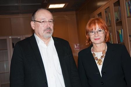 Književnik i novinar Jurica Čenar i voditeljca tribine dr. sc. Željka Lovrenčić.