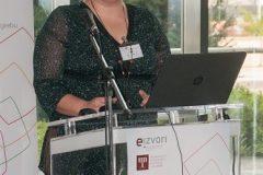 """Djelatnica NSK Sonja Borak održala je izlaganje o korištenju e-Izvora na tribini """"Analiza ostvarenih ciljeva"""" u sklopu projekta """"Povećanje pristupa elektroničkim izvorima znanstvenih i stručnih informacija – e-Izvori""""."""