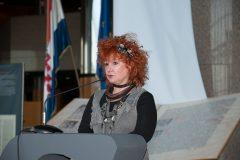Spisateljica Melita Rundek na završnoj svečanosti Nacionalnoga kviza za poticanje čitanja u NSK.