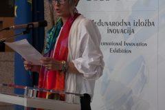 Voditeljica Službe za unapređenje inovacijskog sustava pri Ministarstvu gospodarstva, poduzetništva i obrta dr. sc. Zrinka Banić-Tomšić na svečanome otvorenju 16. međunarodne izložbe inovacija ARCA 2018 i 10. međunarodnoga sajma inovacija u poljoprivredi AGRO ARCA.