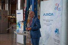 Predsjednik Udruge inovatora Hrvatske Ivan Bračić na svečanome otvorenju 16. međunarodne izložbe inovacija ARCA 2018 i 10. međunarodnoga sajma inovacija u poljoprivredi AGRO ARCA.