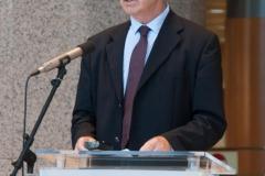 """Prof. dr. sc. Hilmo Neimarlija na otvorenju izložbe """"Blago koje traje"""" i predstavljanju knjige """"Monografija Gazi Husrev-begove biblioteke""""."""