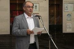 "Autor izložbe prof. dr. sc. Milan Pelc na otvaranju izložbe ""Book Art in Croatia"" u Sofiji."
